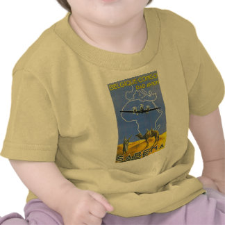 ~ Belgique Congo de Sabena Camiseta