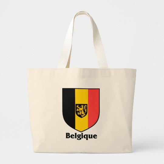 Belgique Crest / Belgium Flag Large Tote Bag