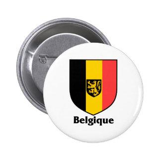 Belgique Crest / Belgium Flag Pinback Button