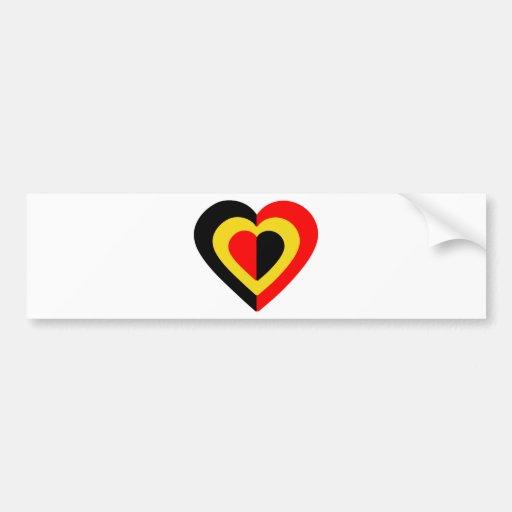 belgique-heart-2. bumper sticker