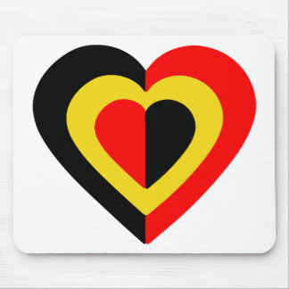 belgique-heart-2. mouse pad