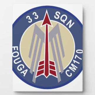 Belgium Air Force BAF Patch 33 Squadron 9 Wing Pat Photo Plaque