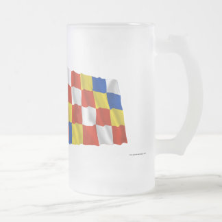 Belgium and Antwerp Waving Flags Coffee Mugs