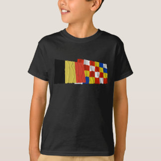 Belgium and Antwerp Waving Flags T-Shirt