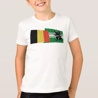 Belgium and East Flanders Waving Flags T-Shirt