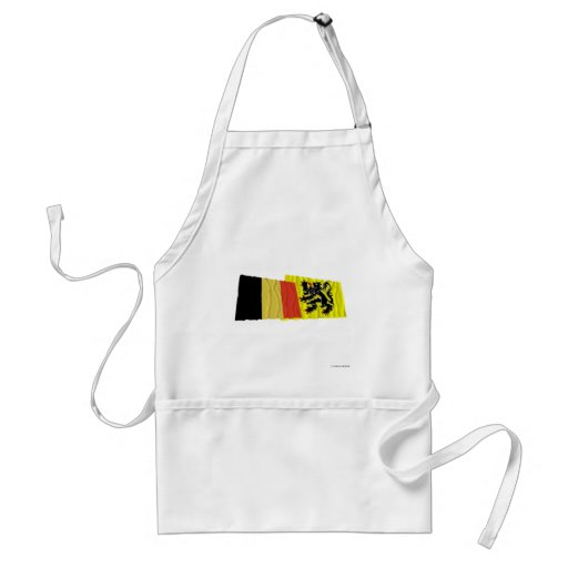 Belgium and Flanders Region Waving Flags Adult Apron