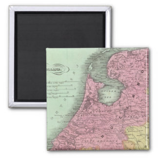 Belgium And Holland 2 Inch Square Magnet