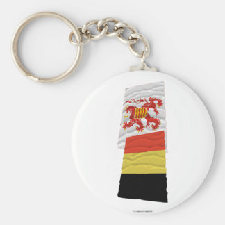 Belgium and Limbourg Waving Flags Keychains