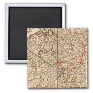 Belgium and Luxembourg 2 Inch Square Magnet