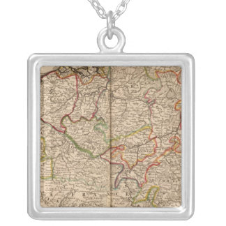 Belgium and Luxembourg Square Pendant Necklace