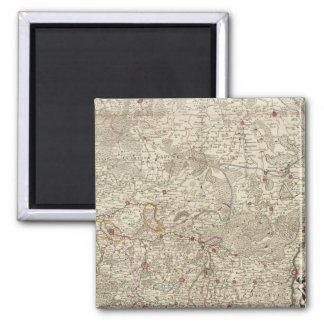 Belgium and Netherlands 2 Inch Square Magnet