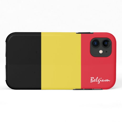 Belgium & Belgian Flag fashion, travel /sports iPhone 11 Case