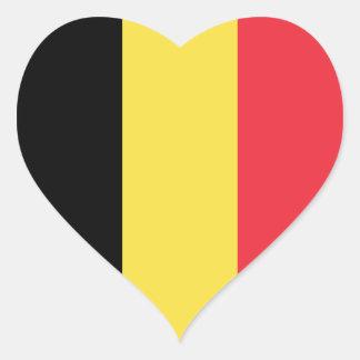 Belgium – Belgian National Flag Heart Sticker