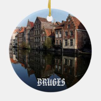 Belgium Bruges Belgium Scenic Circle Ornament
