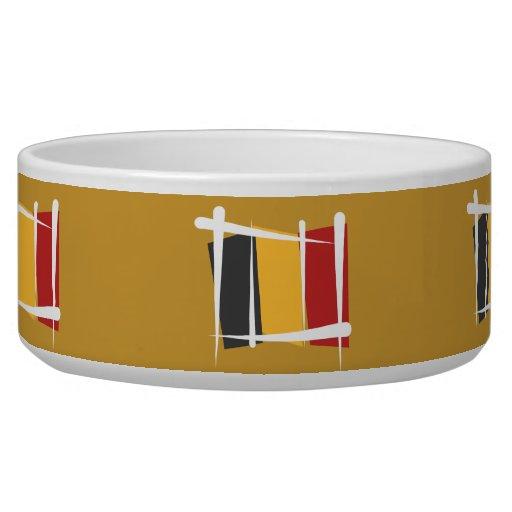 Belgium Brush Flag Bowl