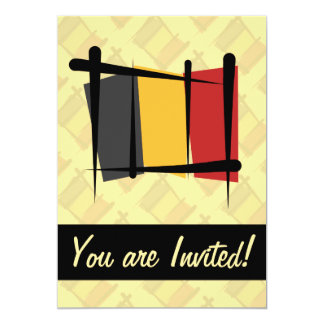 Belgium Brush Flag Card