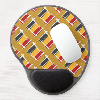 Belgium Brush Flag Gel Mouse Mats