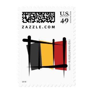 Belgium Brush Flag Postage Stamps
