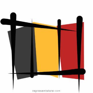 Belgium Brush Flag Statuette