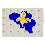 Belgium Brussels Flag Map full size Greeting Card