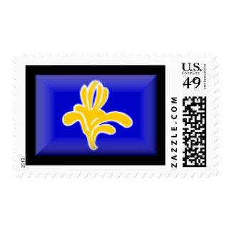 Belgium-Brussels Flag Stamp