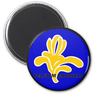 Belgium Brussels Roundel quality Flag 2 Inch Round Magnet