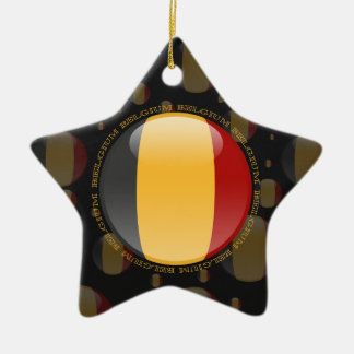 Belgium Bubble Flag Ceramic Ornament