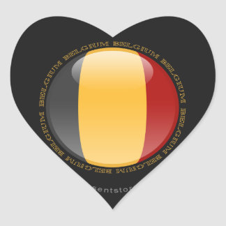 Belgium Bubble Flag Heart Sticker