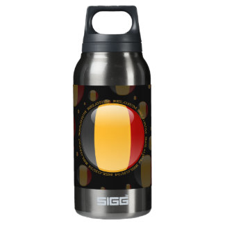 Belgium Bubble Flag Insulated Water Bottle