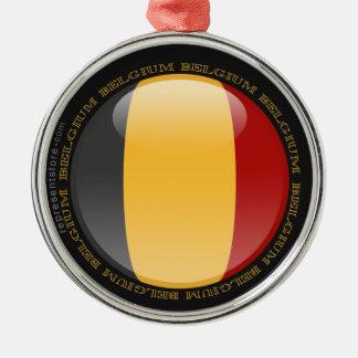 Belgium Bubble Flag Metal Ornament