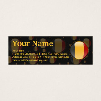 Belgium Bubble Flag Mini Business Card