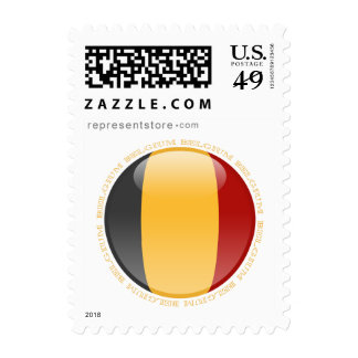 Belgium Bubble Flag Postage Stamp
