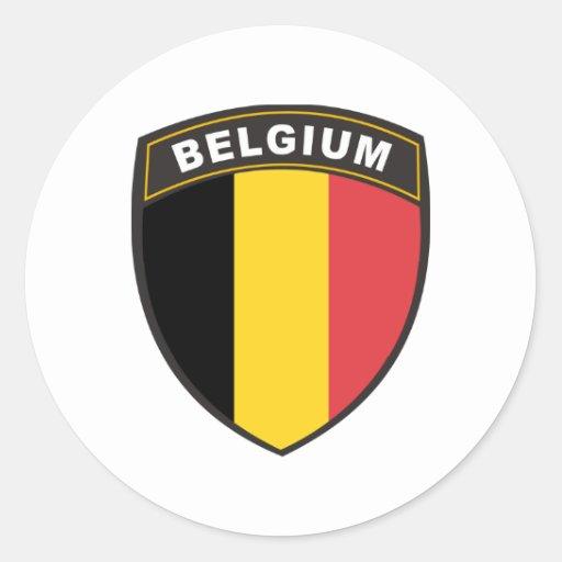 Belgium Classic Round Sticker  Zazzle
