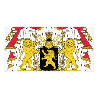 Belgium coat of arms card