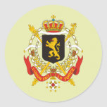 Belgium Coat of Arms detail Classic Round Sticker