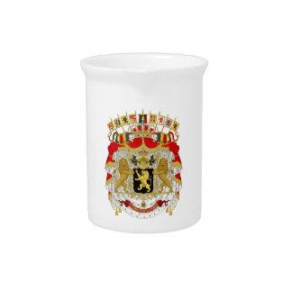 Belgium Coat of Arms Pitchers