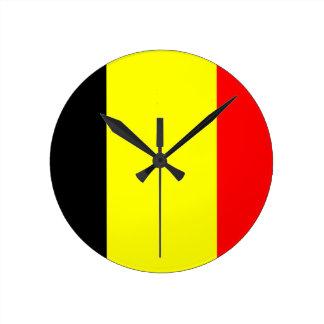 belgium country flag clock