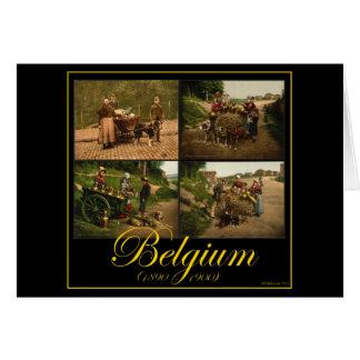 Belgium Dog-Cart Milk Seller Vintage Images Card