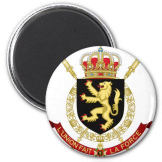 belgium emblem 2 inch round magnet