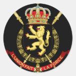 belgium emblem round sticker