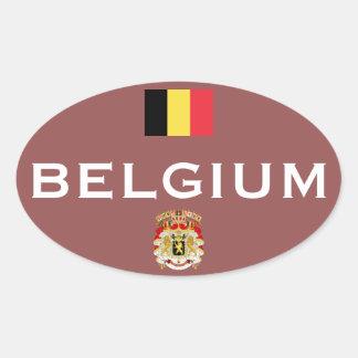 Belgium Euro-Style Oval Sticker