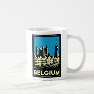 belgium europe art deco retro travel vintage classic white coffee mug