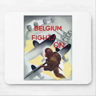 Belgium Fights On -- WW2 Mouse Pads