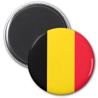 Belgium Flag 2 Inch Round Magnet
