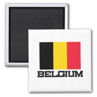 Belgium Flag 2 Inch Square Magnet