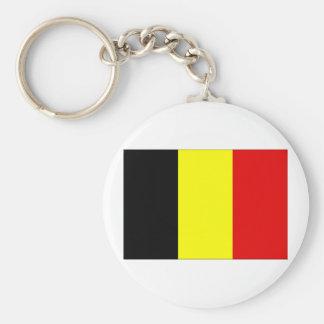Belgium Flag Basic Round Button Keychain