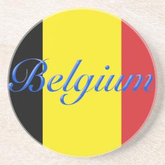 Belgium flag beverage coasters