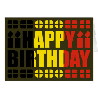 Belgium Flag Birthday Card
