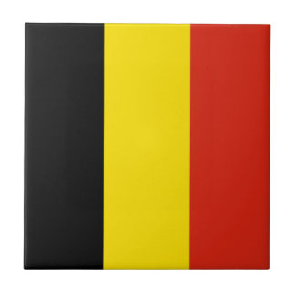 Belgium Flag Ceramic Tile