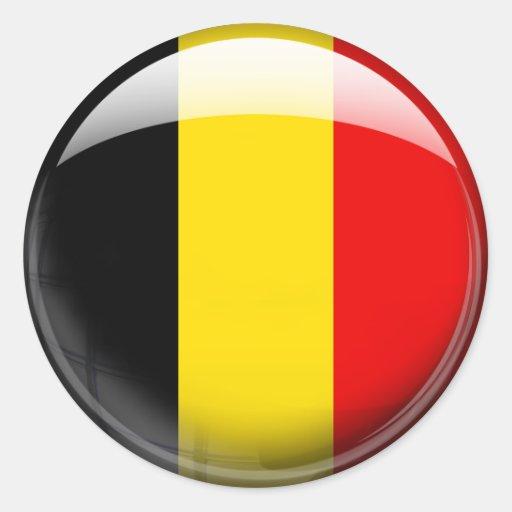 Belgium Flag Classic Round Sticker  Zazzle